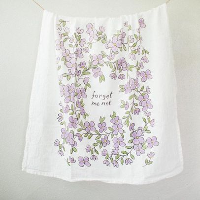 "laurelbox's ""forget me not"" tea towel"