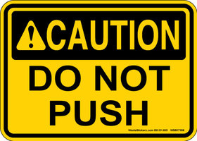 do not push
